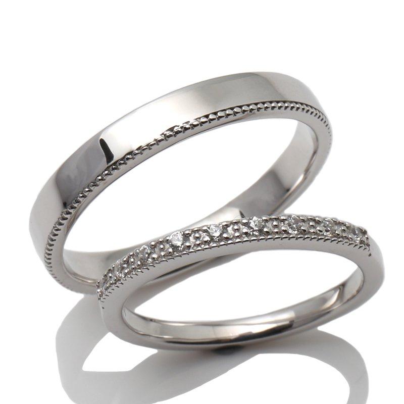 2020公式店舗 【BRIDAL N】 ※4週間前後でお届けダイヤモンド18K ホワイトゴールドリング0.09ct -レディースデザイン-, ブランドヒルズ ea190976