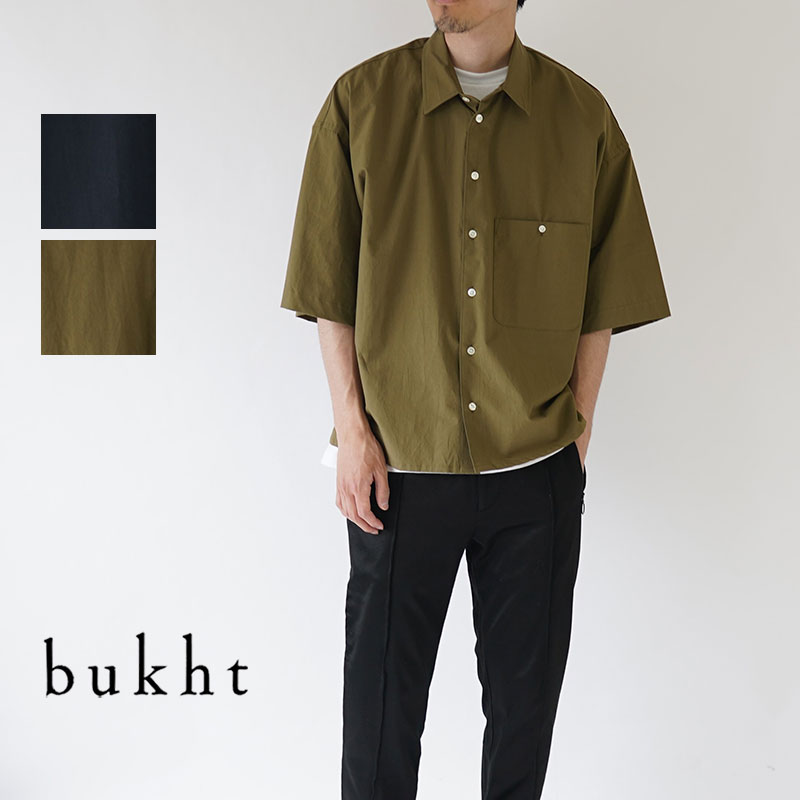bukht / ブフト / 半袖シャツ / LOOSE SHIRTS S/S -PAPER TOUCH YARN / BW-82203
