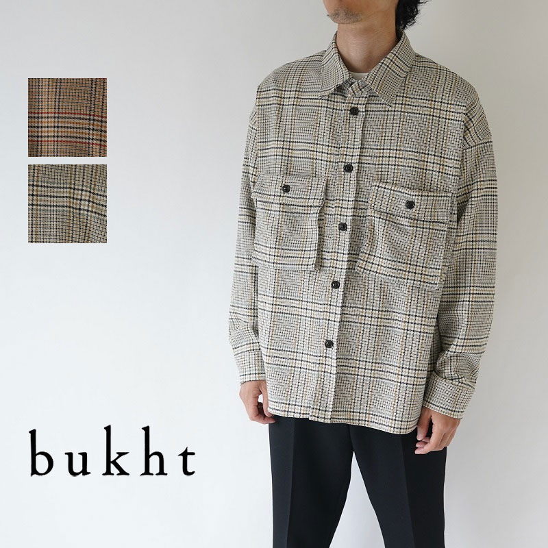 【50%OFFセール!】bukht / ブフト / CPO SHIRTS -OVER CHECK FAB- / BV-45208