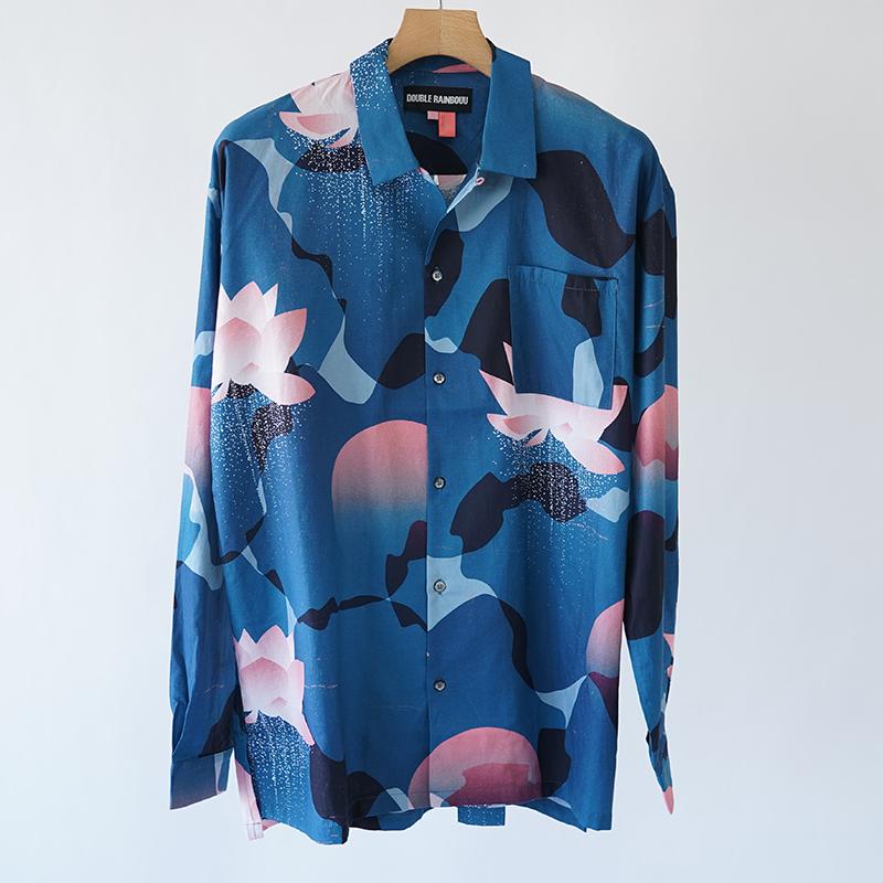DOUBLE RAINBOUU / 柄シャツ / アロハシャツ / オープンカラーシャツ / HAWAIIAN LONG SLEEVE SHIRTS