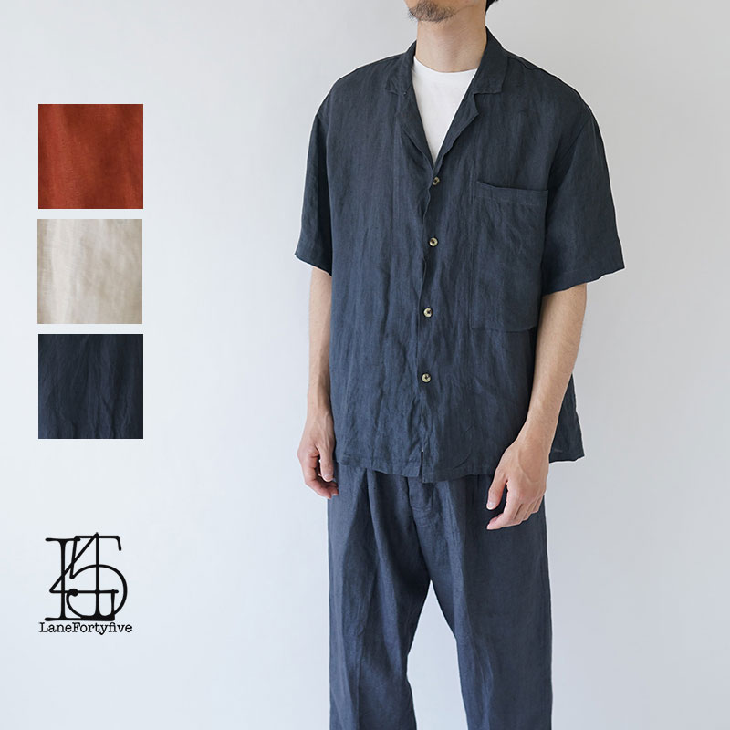 LANE FORTY FIVE / レーン45 / 2019SS / LAPELLED SHIRT / Camicia1TH