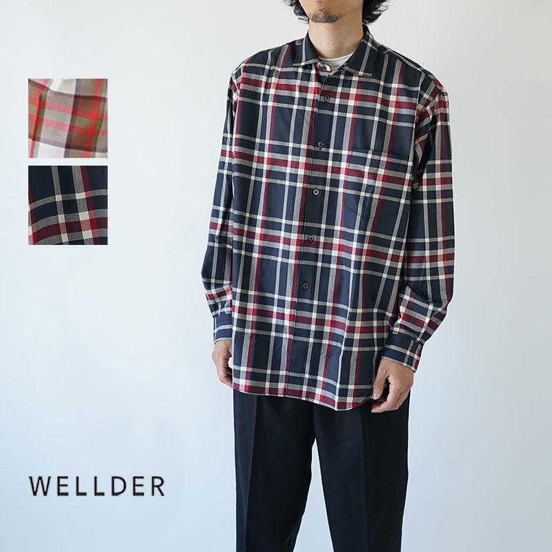 【50%OFFセール!】WELLDER / ウェルダー / 2019AW / シャツ / WELLDER STANDARD SHIRT / WM19FSH01
