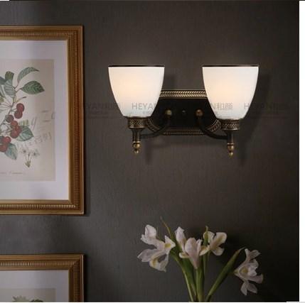 壁掛け照明 ヨーロッパスタイル ダブル壁ランプ ヴィンテージ LED バー ラウンジ レストラン カフェ 喫茶
