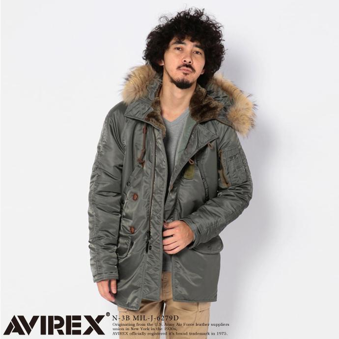 AVIREX 公式通販   ミリタリージャケットN-3B MIL-J-6279D(アビレックス アヴィレックス)メンズ 男性