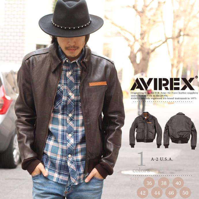AVIREX 公式通販|レザージャケットA-2 フライトジャケット(アビレックス/アヴィレックス)
