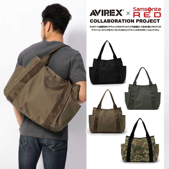 AVIREX 公式通販 | AVIREX×Samsonite RED/ アヴィレックス×サムソナイト レッド/ TOTE BAG/ トートバッグ【送料無料】(アビレックス アヴィレックス)メンズ 男性