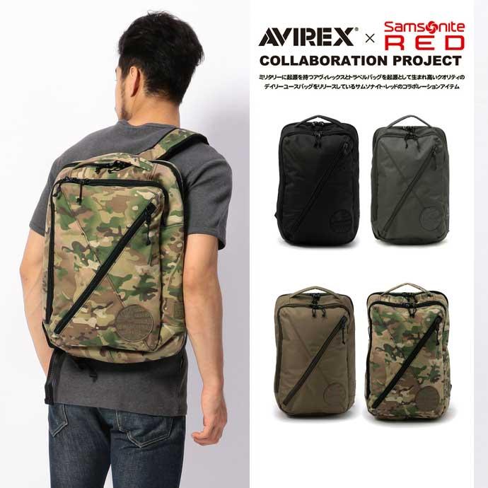 AVIREX 公式通販   AVIREX×Samsonite RED/ アヴィレックス×サムソナイト レッド/ BOX PACK/ ボックスパック【送料無料】