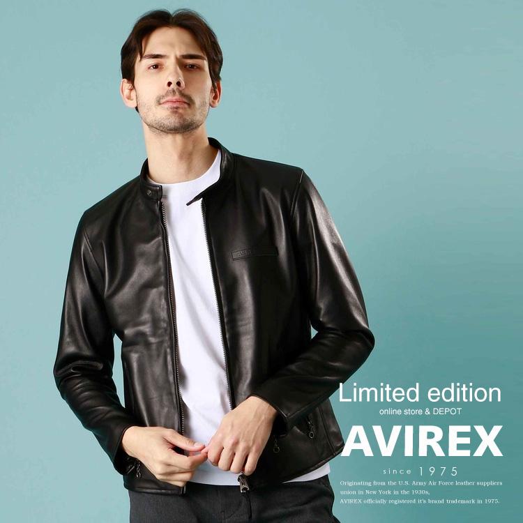 AVIREX 公式通販・オンライン/DEPOT限定   シープ シングルライダース/SHEEP SINGLE RIDERS(アビレックス アヴィレックス)メンズ 男性