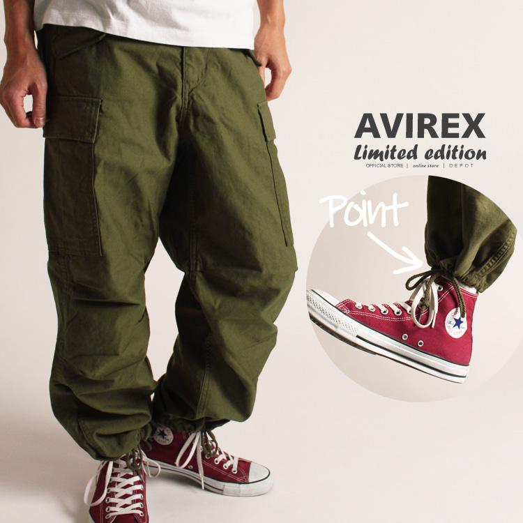 AVIREX 公式通販・オンライン/DEPOT限定   大きなシルエット裾に紐付きのカーゴパンツ M-65ファティーグパンツ/M-65 FATIGUE PANT(アビレックス アヴィレックス)メンズ 男性