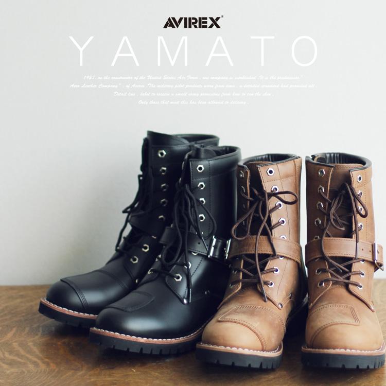 AVIREX 公式通販 | サイズ交換1回無料メンズ レディースヤマト サイドジップ バイカーブーツ エンジニアブーツ レザー 革靴YAMATO BAIKER BOOTS 22~28cm(アビレックス/アヴィレックス)