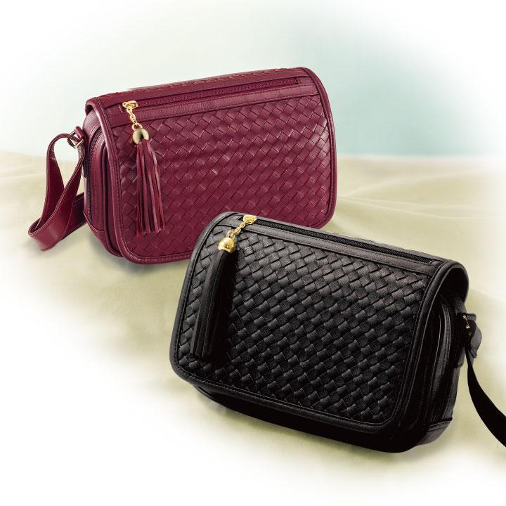 【レディースバッグ】マダム・ナディーヌのラム革ポシェット Z0725▼かばん 鞄 婦人バッグ フロントウォレット