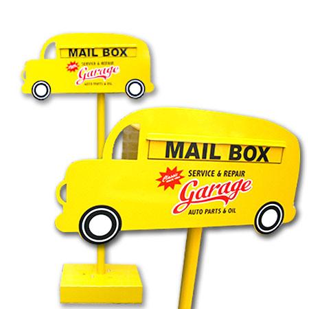 郵便 ポスト アメリカン テイスト かわいい 車《 人気 郵便ポスト 新聞受け mail box 鍵付き 》【ポスト】