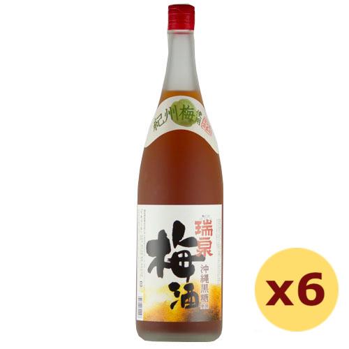 泡盛 瑞泉酒造 / 沖縄黒糖使用梅酒 12度,1800ml ×6本セット
