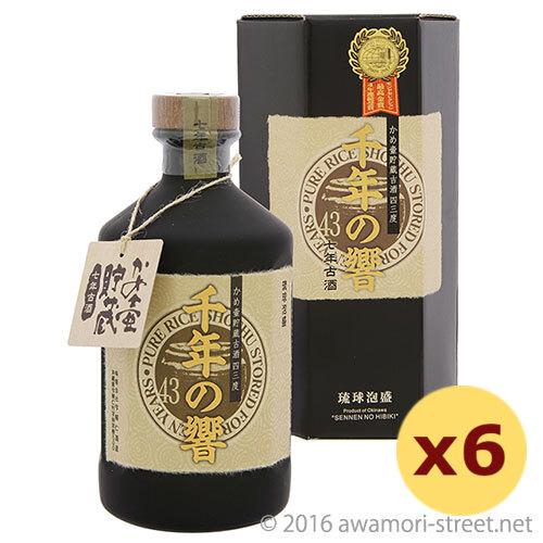 泡盛 今帰仁酒造 / 千年の響 かめ壷貯蔵 7年古酒 43度,720ml ×6本セット