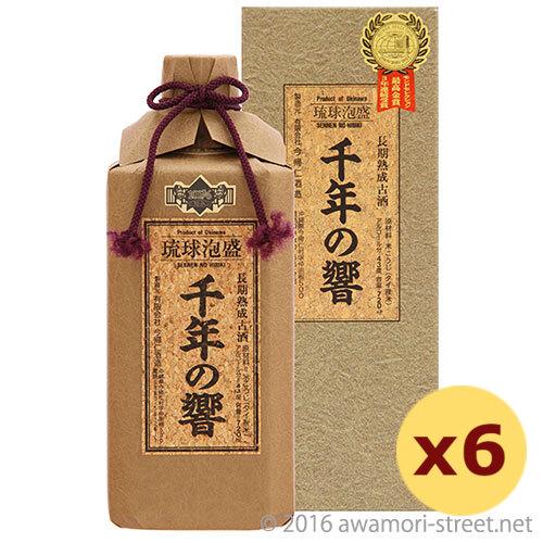 泡盛 今帰仁酒造 / 千年の響 長期熟成古酒 43度,720ml ×6本セット