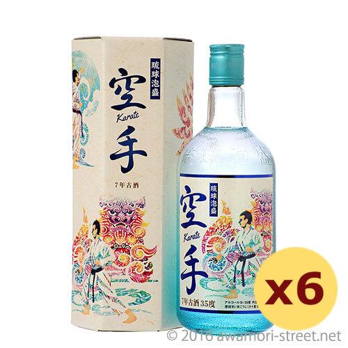 泡盛 久米島の久米仙 / 空手 7年古酒 35度,720ml ×6本セット