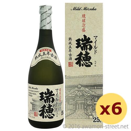 泡盛 瑞穂酒造 / マイルド瑞穂 熟成5年古酒 25度,720ml ×6本セット