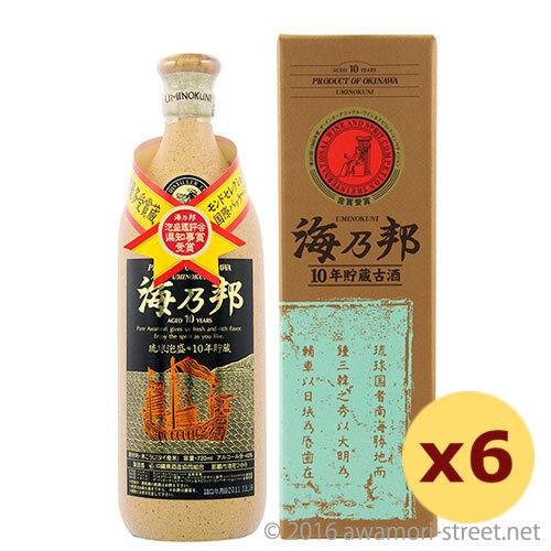 泡盛 沖縄県酒造協同組合 / 海乃邦 10年古酒 43度,720ml ×6本セット