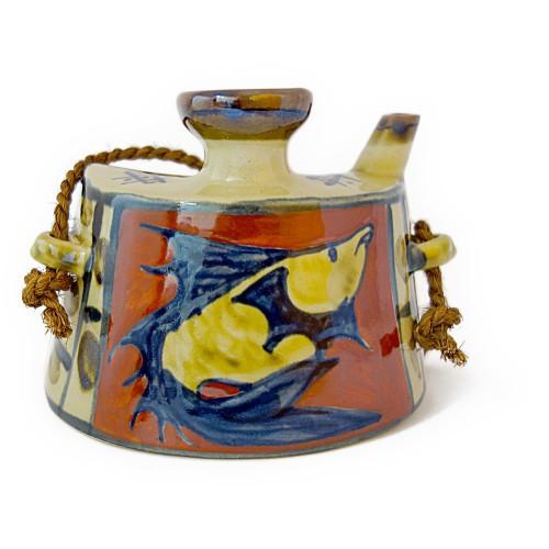 魚料理の食卓に良く似合う抱瓶 抱瓶二合 台型 爆安 赤魚 赤魚模様 朝日陶器 陶器 泡盛 送料無料 出産祝い ギフト 贈物