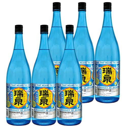 泡盛 瑞泉 30度 1800ml×6本 [瑞泉酒造 ずいせん / 1升瓶 一升瓶 / 泡盛セット]