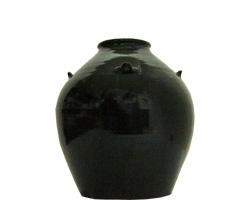 いちまん焼 3升甕 (シリコン栓付き) 黒【泡盛】【古酒つくり】