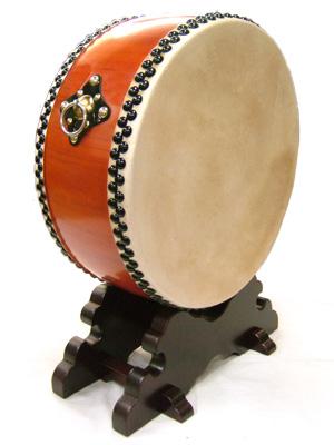 平太鼓 水牛皮 直径48cm 舞台用太鼓バチ2本・台付き【送料無料】沖縄エイサー 太鼓(太鼓とバチのセット 和太鼓)ラッピング可