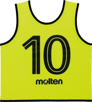 【送料無料】【2020年モデル】【molten モルテン】 GS0112-KL オールスポーツ エキップメント ゲームベストGVジュニア10枚セット 蛍光イエロー 蛍光イエロー [200411]