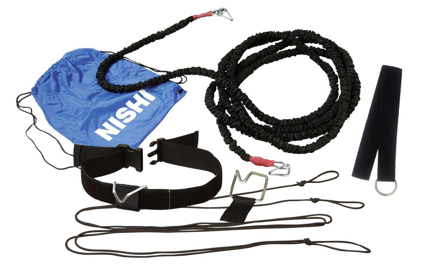 【送料無料】【NISHI ニシスポーツ】【陸上競技用品】 トレーニングチューブ(9m/ミディアム) クイックリリース・スピードハーネスTS(9mミディアムチューブタイプ) NT7422C