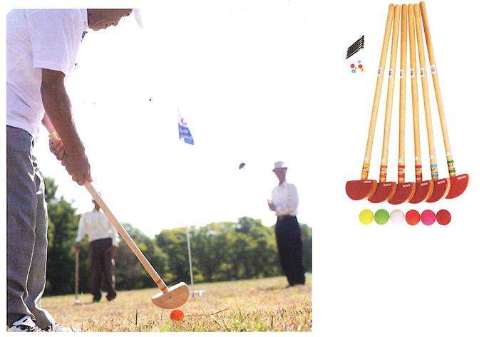 【送料無料】【サンラッキー SUNLUCKY】【グラウンドゴルフ】 グラウンドゴルフセット  GS-X