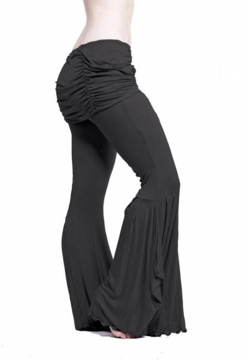 【Melodia レッスン着】NEW!! バンブー スカーレットフレア パンツ(ブラック)XS30