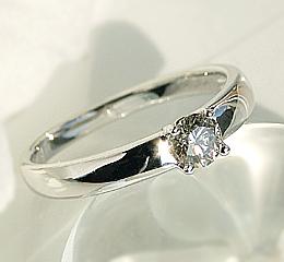 k10WG 大粒0.3ct ハニーブラウン ダイヤモンドリング