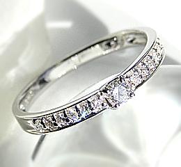 pt900 0.2ctダイヤモンド リング