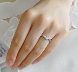 pt900 0.5ct テンダイヤモンド リング 【楽ギフ_包装】