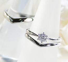 pt900 ウェディングセット【婚約指輪】【結婚指輪】 【楽ギフ_包装】