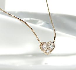k18PG/WG/YG ハートモチーフ ダイヤモンドペンダント ハート ゴールド かわいい 人気 ネックレス ダイヤネックレス ダイヤモンドペンダント 18金 一粒 シンプル ご褒美 贈り物 誕生日 アンティーク