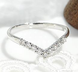 pt900 Vラインダイヤモンド リング
