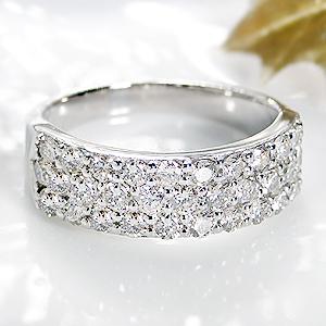 ファッション レディース ジュエリー アクセサリー リング 指輪 プラチナ ダイヤモンド 1カラット ダイアモンド パヴェ ギフト プレゼント 豪華 クリスマス pave diamond ring 送料無料 代引手数料無料 品質保証書 刻印無料 4月誕生石