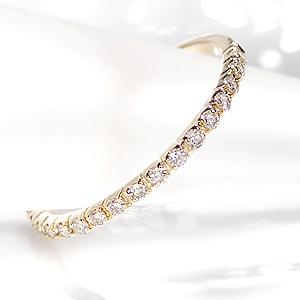 ファッション ジュエリー アクセサリー レディース 指輪 リング ゴールド K18 イエローゴールド ピンクゴールド ホワイトゴールド ダイヤモンド ダイヤ リング エタニティー ダイヤ エタニティ 四本爪 送料無料 代引手数料無料 品質保証書 4月誕生石 ギフト