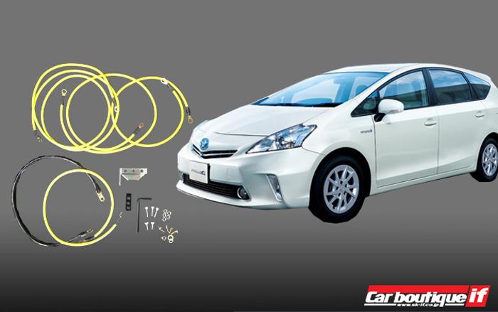 トヨタ プリウスα用 アーシングキット プリウスアルファ(ZVW4#)専用 電装機器の性能を最大限に発揮!10P05Nov16