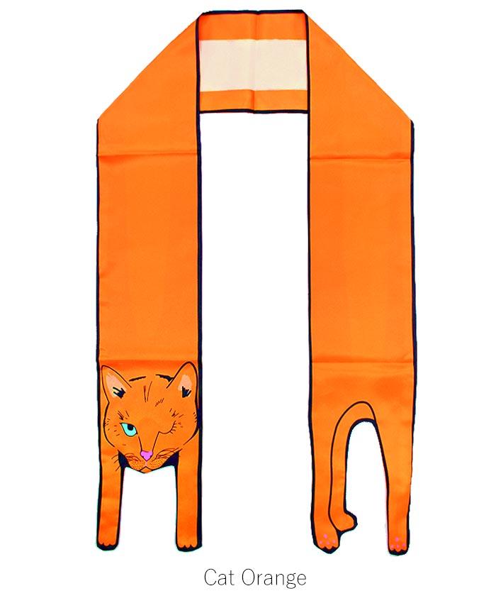 アニマル ロング スカーフ スカーフ ストール 動物 バッグスカーフ  トレンド 猫 パンダ バンビ ジャガー ラビット ブルドッグ トゥイリー 春 バンダナ []※代引き手数料&送料(一部地域:別送料)別途。