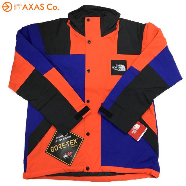【plokh】 THE NORTH FACE(ザ ノース フェイス) NP11961RAGE GTX Shell Jacket レイジ ジーティーエックスシェルジャケット(ユニセックス) Col.AP(アズテックブルー×ペルシャンオレンジ)