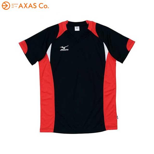 ギフト使用はご注意ください パッケージにキズ 汚れがある場合有り ユニセックス Tシャツ バレーボール アウトレット 39 OUTLET SALE Col.96 ミズノ 59HV324 店内全品対象 半袖ゲームシャツ ブラック×レッド Mizuno