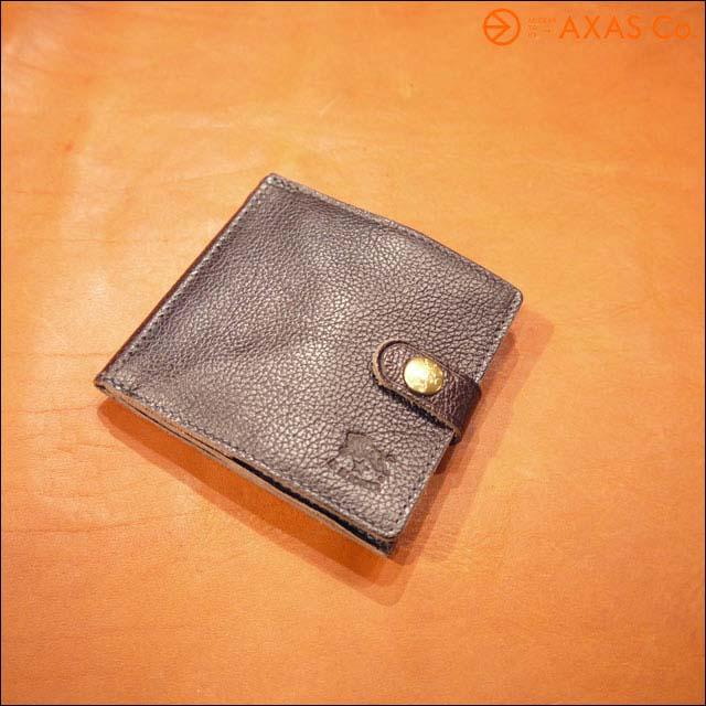 【acwdt】 IL BISONTE(イルビゾンテ) 412228 ボタン付き二つ折り財布 Col.32/こげ茶