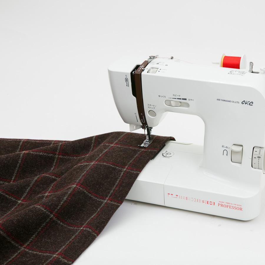 ミシン 本体 PF-8200b 自動糸調子 ワイドテーブル セット ロックカッター付 アックスヤマザキ l コンパクトミシン 小型 初心者 おすすめ 簡単
