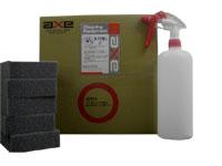 水垢除去剤 洗浄力が高くコーティング施工車にも使える (水アカ落とし2 18Lセット)(キャニオンガン、1Lボトル、バフ素材スポンジ5個付き)