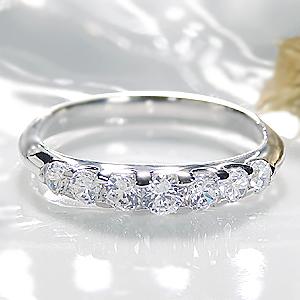 ◆Pt900 グラデーション ダイヤモンド リング【0.5ct】 指輪 リング プラチナ ダイヤ エタニティ ダイヤリング ダイア pt900 4月誕生石 ギフト ピンキー ブライダル 豪華 7ストーン 結婚 婚約