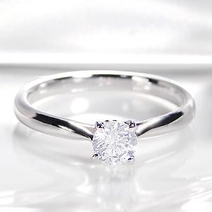 ☆Pt900 ひと粒 ダイヤモンド 4本爪 リング【0.3ct】指輪 大粒 1粒 プラチナ ダイヤ リング ダイア ブリッジ 四本爪 4月誕生石 ギフト 重ねづけ ブライダル 婚約 結婚