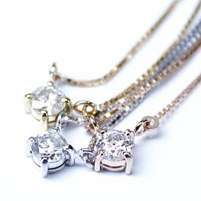 ANGELINAK10ゴールド天然ダイヤモンド一粒ダイヤペンダント0.1ct【smtb-m】【05P12Oct14】