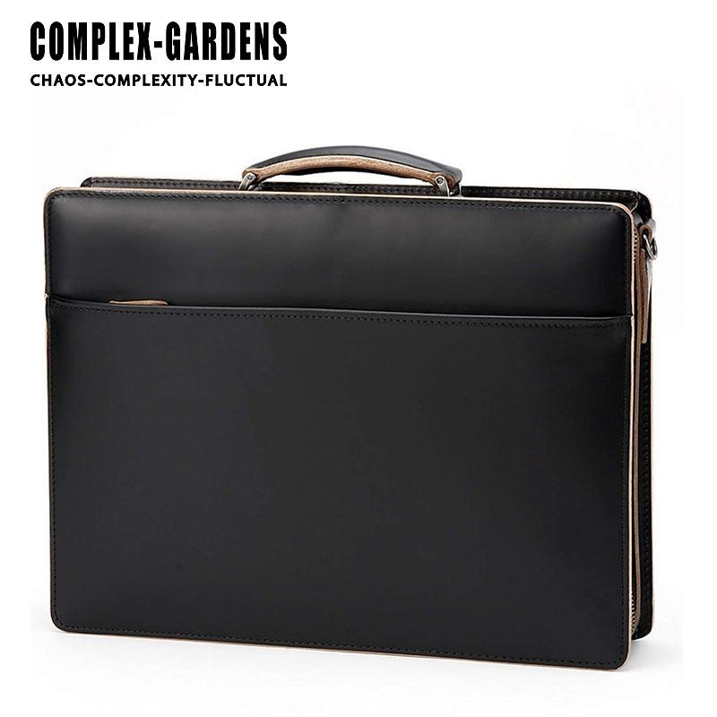 2WAY ビジネスバッグ 3686 青木鞄 コンプレックスガーデンズ 口枠付き 38cm A4 ファスナー3方開き 枯淡