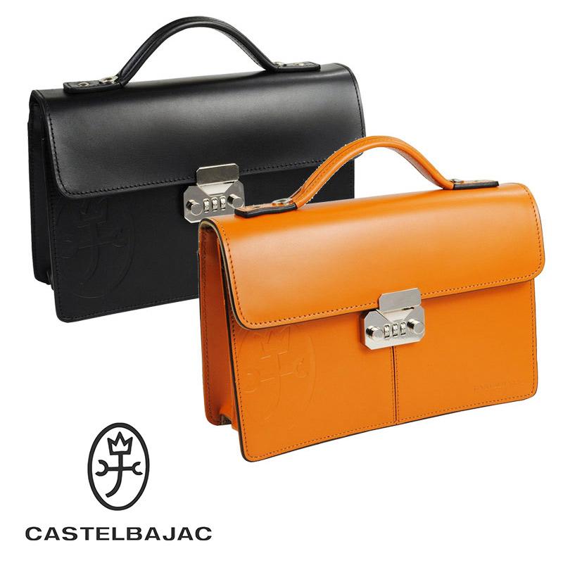 セカンドバッグ 164206 カステルバジャック CASTELBAJAC カブセ型 錠前付き 26cm tirier トリエ